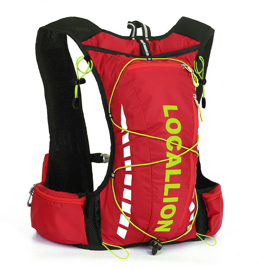 Running Bag 10L Men Women Lightweight Trail Running Backpack Marathon Fitness Hydration Vest Pack + 2.0 L Water Bag Optional