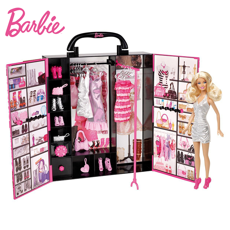 Original Barbie Doll Ultimate Fantasy Closet Baby Lady Toys Model Clothing Costume Suit Princess Toys Gift For Girl X4833