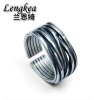 Men rings women jewelry 925 sterling silver ring retro opening finger rings for women boys girls accessories 2019 men pinky ring