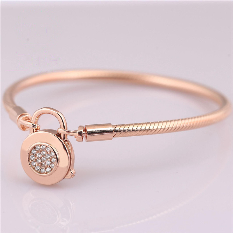 New 925 Sterling Silver Snake Chain Fit Rose Gold Moments Smooth ...