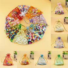 Hot 10PCS/Lot New Cute Colorful Jewelry Yarn Bag Bracelets Beads Storage Organizing Pouches Wedding Birthday Gifts Package