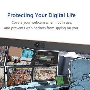 Image 5 - 6 Pack couverture de WebCam Ultra mince obturateur aimant curseur couverture de caméra pour Macbook Pro ordinateurs portables lentille de téléphone Web Cam autocollant de confidentialité