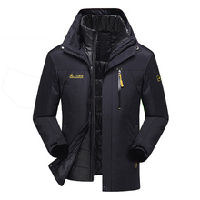 Плюс Размеры 5XL 6XL зимняя куртка для мужчин/женщин Водонепроницаемый ветровки две куртки в одной толстые теплые парки верхняя одежда и пальто CF1688