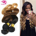6A Unprocessed Russian Virgin Hair Body Wave Ombre Hair Body Wave Russian Hair Wavy Human Hair Bundles