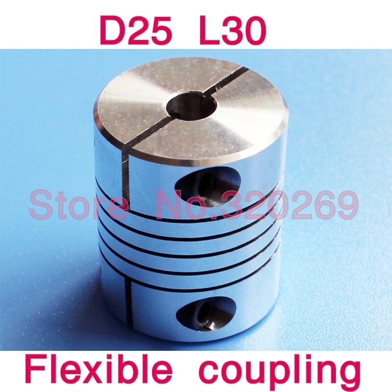"Aluminium 6.35mm Flexible shaft Coupling Coupler to 8mm. 1//4/"""