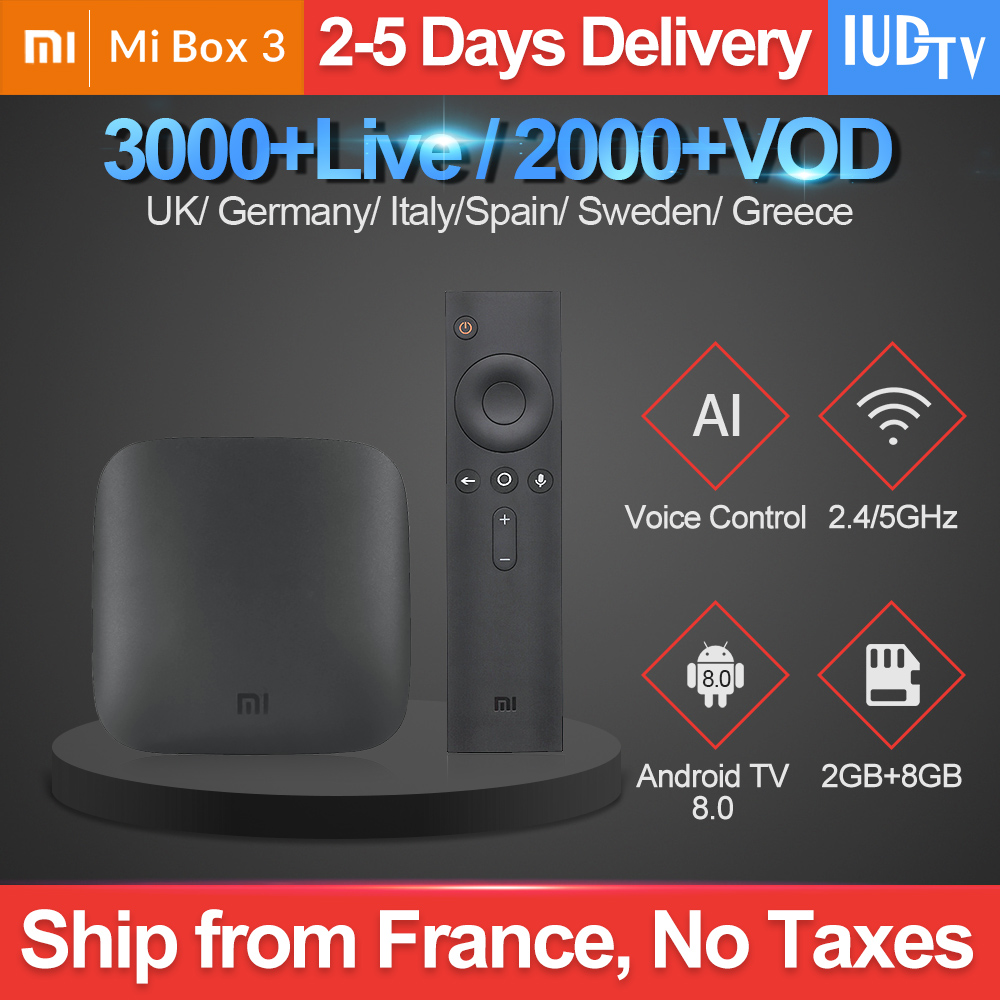 IPTV UK Swedish Xiaomi Mi Box 3 IUDTV Greek Spain Subscription Android 8.0 Full HD IP TV English Italian 1 Year Code