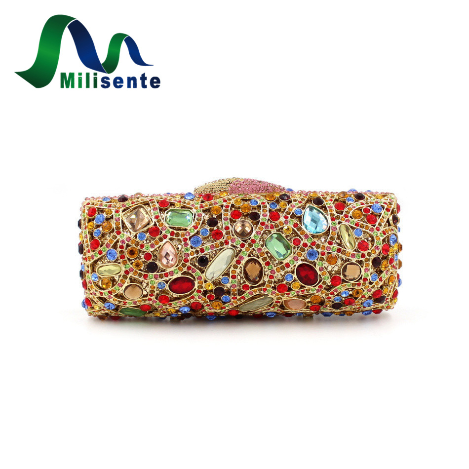 Fashion Luxury Crystal Wedding Bags Women Day Clutches Evening Handbags Sisters Party Purse Doubleside Diamonds Gold Chain стоимость