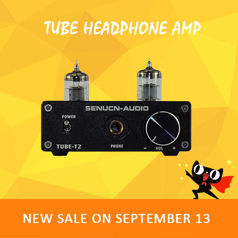 SENUCN TUBE-T2 headphone amplifier 6k4 vacuum tube amplifier volume control mini audio amplifier desktop tube amp tube preamp k guss a1 mini 6j1 audio tube bile headphone amplifier ne5532 6k4 headphone amp