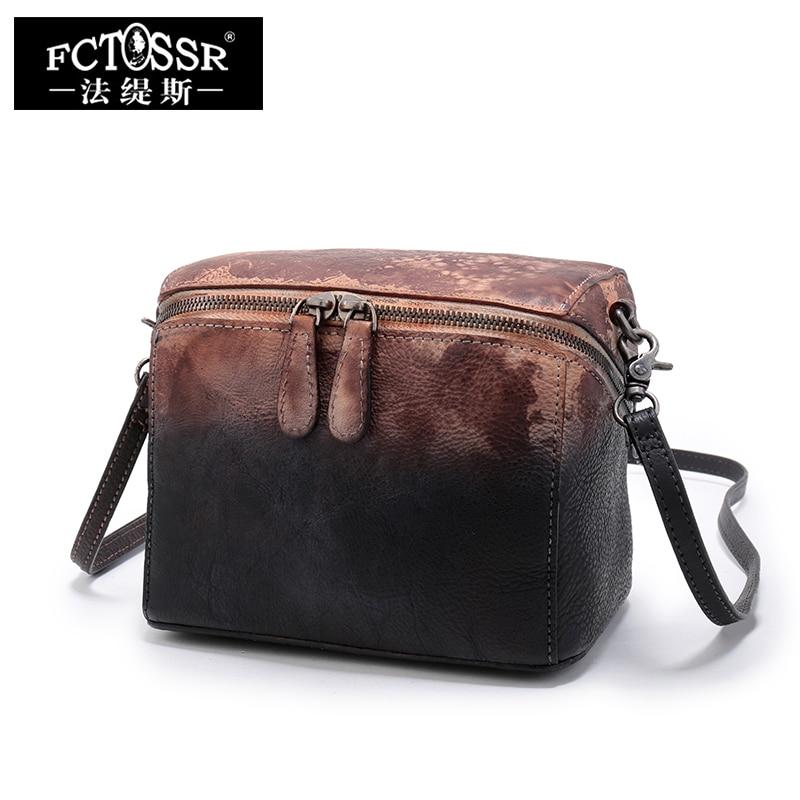 2018 New Handmade Shoulder Bag Original Genuine Leather Handbags Retro Leisure Zipper Women Bag Messenger Crossbody Bags