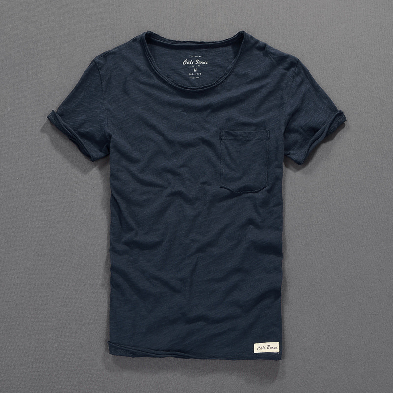 Summer Men T-shirt Brand Bamboo Cotton Short-sleeved Solid 100% Cotton T Shirt Men Factory Direct O-Neck Tshirt Mens Camiseta