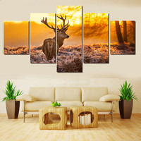 5 pcs/set,full 5D DIY Diamond Embroidery Animal Deer Diamond Painting Cross Stitch forest Deer Animal Needlework Home Decorative