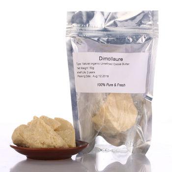 цена Dimollaure 50g Pure Cocoa Butter Unrefined Cocoa Butter Raw Base Oil Natural ORGANIC plant Essential Oil skin care Food Grade онлайн в 2017 году