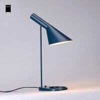 Черные, белые, красные зеленый абажур aj настольная лампа светильник Современный Nordic стол свет abajour Luminaria Дизайн кровать кабинет офис