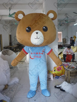 export high quality POLE STAR MASCOT COSTUME big head teddy mascot costumes character teddy bear costume new bear mascot costume