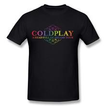 2017 Men's Coldplay Logo New Fashion Brand Custom Print Slim Fit T Shirt O Neck Top Quality COTTON Tops Tees