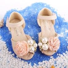 Лук бой принцессы сандалии 2018 летние новые сандалии для девочек детская обувь на квадратном каблуке Модная обувь с открытым носком пайетки туфли принцессы