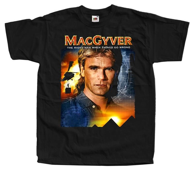 Macgyver V5 R D Anderson Poster Tv Series T Shirt Black All Sizes S To 4Xl ...