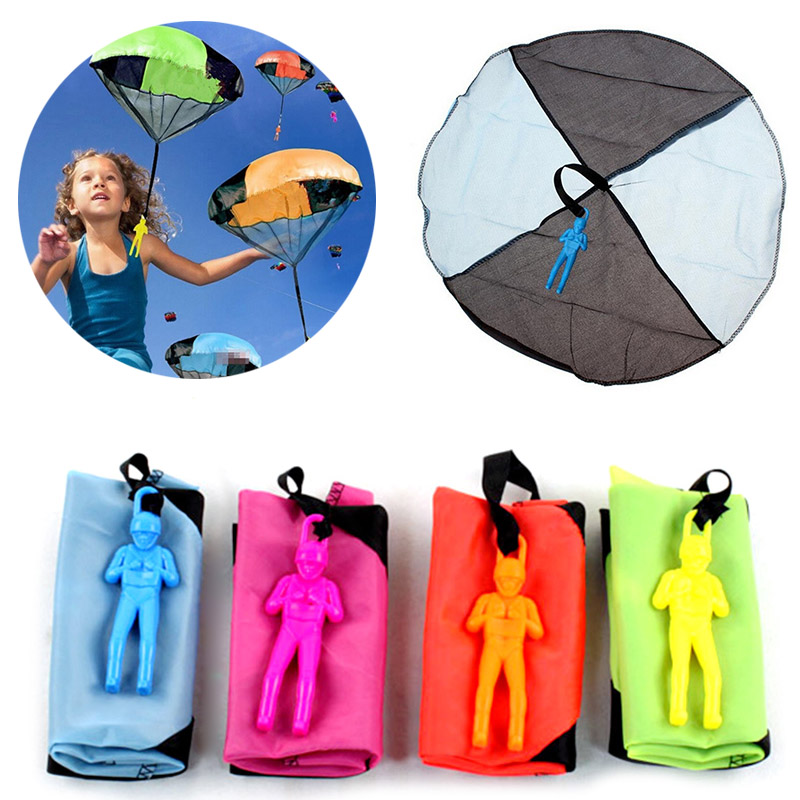 Hot Selling Funny Outdoor Hand Throw Parachute Flying Umbrella Toy Kids Educational Toys Random Color @Z227