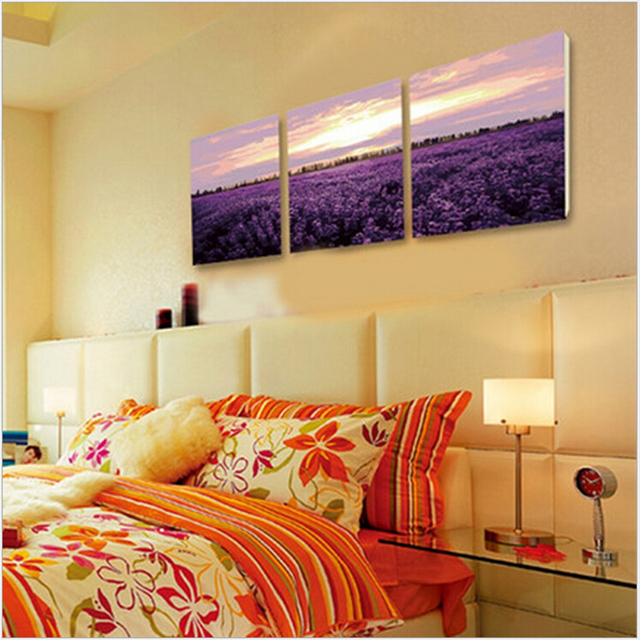 Lavender fields painting by numbers wall pictures for living room ...
