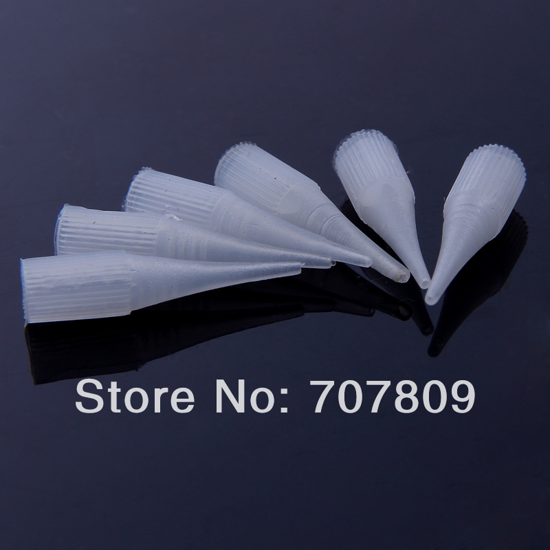 Disposable Tattoo Permanent Makeup Needle Tips Traditional Needle Caps R1 Needle Caps Tips Plastic