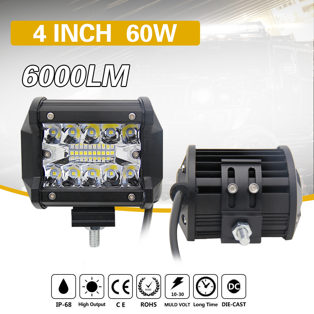 CO LIGHT 1 Pair Led Drl 18W 4 '' Spot Flood Led Arbetsbelysning 12V - Bilbelysning - Foto 4