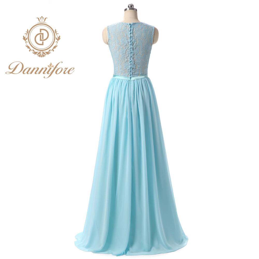 Dannifore Elegant Light Blue Formal Evening Gowns Long A line Prom ...