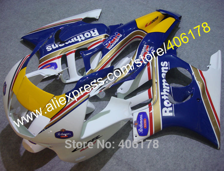 Hot Sales,For HONDA CBR600F3 97 98 CBR 600F3 CBR600 CBR 600 F3 1997 1998 Rothmans Motorcycle Fairing kit (Injection molding)