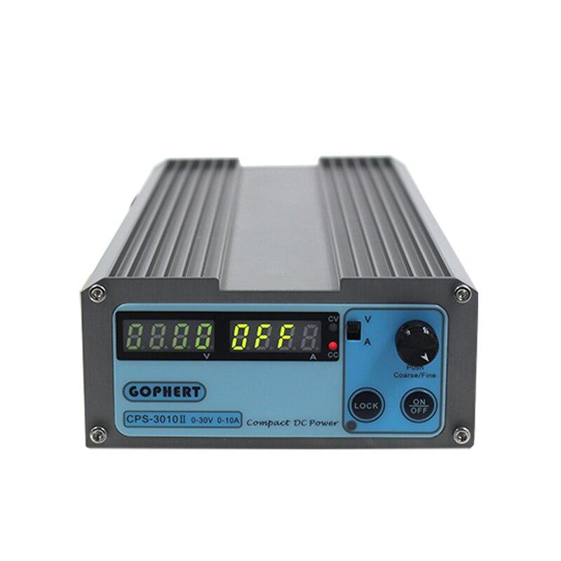CPS-3010 30 V 10A precisión ajustable digital DC fuente de alimentación conmutable 110 V/220 V con OVP/OCP /OTP DC baja potencia 0.01A 0.1 V
