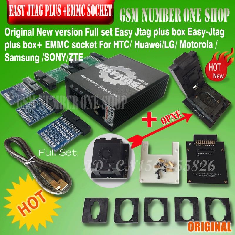 Nouvelle version ensemble complet facile Jtag plus boîte facile-Jtag plus boîte + EMMC prise pour HTC/Huawei/LG/Motorola/Samsung/SONY/ZTE