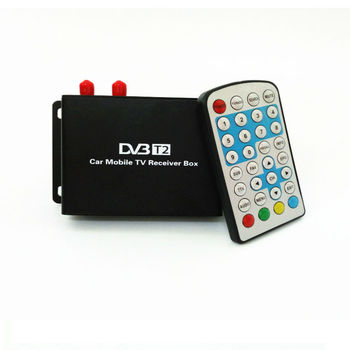 1080P سيارة المحمول DVB T2 160-180km / ساعة موالف مزدوج H.264 MPEG4 موبايل صندوق التلفزيون الرقمي استقبال التلفزيون USB HDMI DVB-T2 سيارة استقبال التلفزيون 1