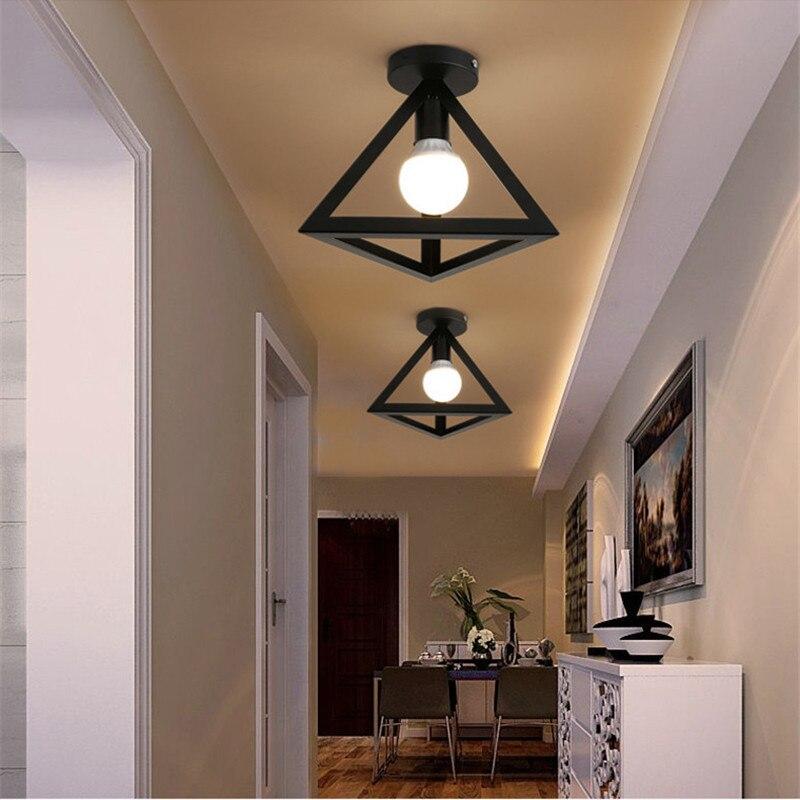 Style industriel Rétro Plafond Lampe Vintage Fer Noir Plafonniers