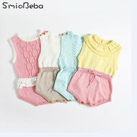 2017 Ins Hot Knitted Romper Newborn Boy Suits For Babies Girls Baby Rompers Ovearlls Ruffles Princess