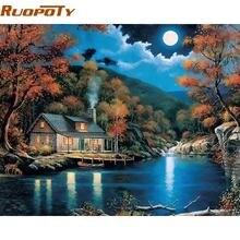 Ruopoty frame fantasy rural landscape diy Набор для рисования