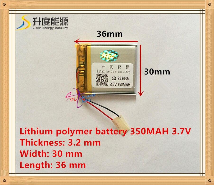 MP3/MP4 / mobile phone battery 323036 3.7V 350mAh lithium polymer batteries genuine
