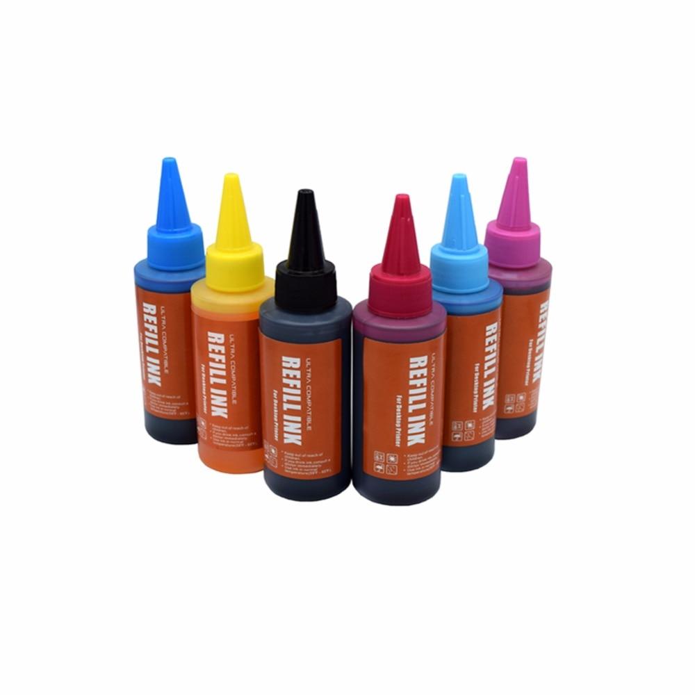 CK 600ml T0481 DYE INK For Epson Stylus Photo R200 R220 R300 R320 Printers Bulk ink