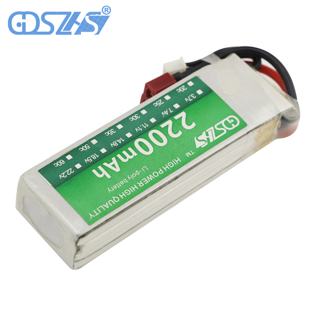 GDSZHS Rechargeable 3S Lipo Battery 11.1V 2200mAh 25C-30C For FPV RC Helicopter Car Boat Drone Quadcopter