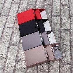 Boîte à cigarettes de haute qualité Ms | Étui à cigarettes de couleur unie, boîtier en Aluminium décoratif, étui à cigarettes ouvert, accessoires de cigarettes