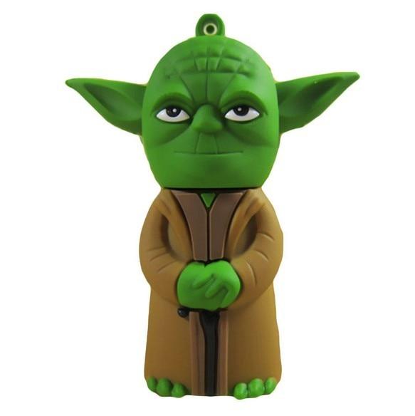 Pen Drive guerra de estrellas Yoda guerrero 64 GB 128 GB 512 GB Usb Flash Drive memory stick Pendrive Pendriver mini mejor regalo