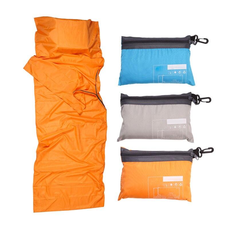 Ultraligero bolsa de dormir al aire libre forro de Pongee de poliéster portátil único bolsas de dormir Camping viaje saludable bolsa de dormir al aire libre