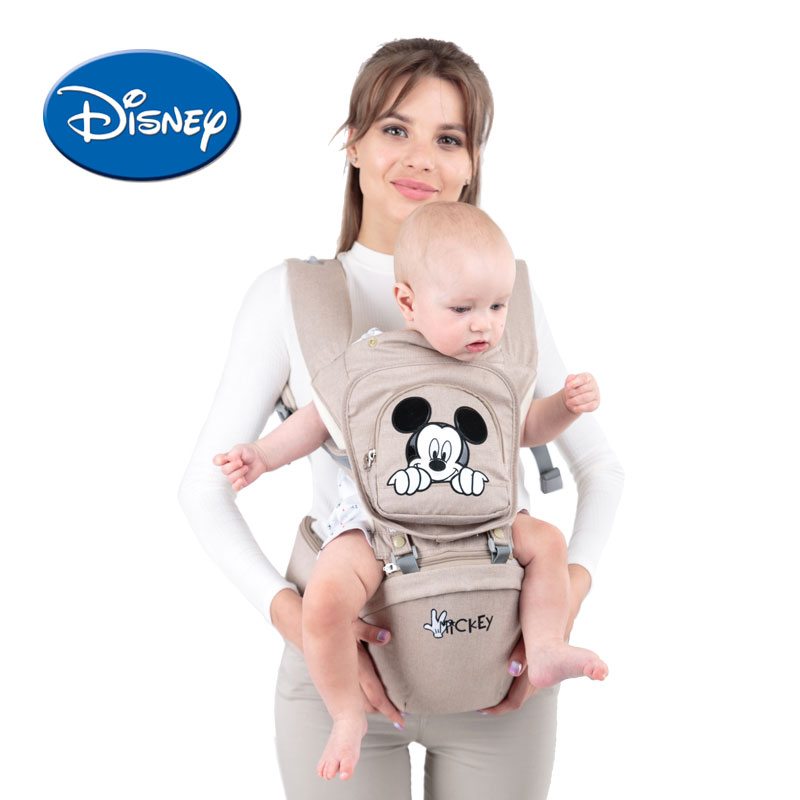 Disney Breathable Front Facing Baby Carrier Mickey Infant Comfortable Sling Minnie Backpack Toddler Detachable disney baby carrier front facing infant breathable comfortable sling mickey minnie backpack toddler detachable carrier