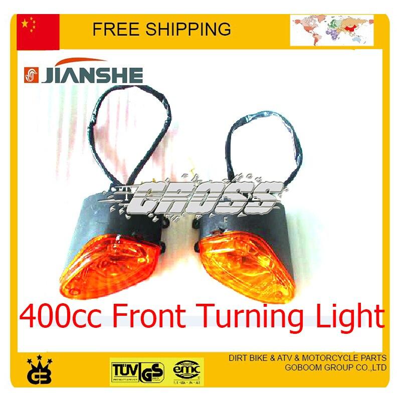 Bien Educado Jianshe Construcción 400cc Atv Luz De Giro Delantero Accesorios De Luz De Dirección Envío Gratis