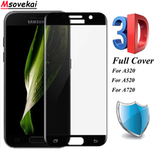 3D Curved Full Cover Tempered Glass For Samsung Galaxy A3 2017 A5 2017 A320 A520 Screen Protector For Samsung A7 2017 A720 Film защитное стекло interstep full screen cover 0 3мм sams a3 2017 a320 gold