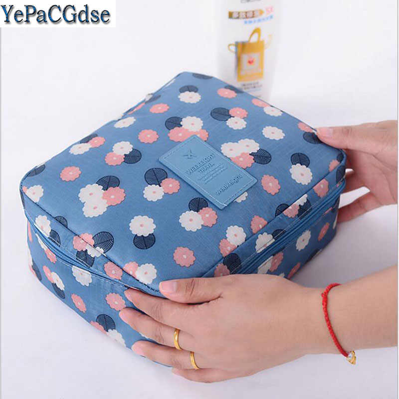 Portable Travel Storage Bag Waterproof Oxford Cloth Underwear  Finishing Organizer Suitcases Cosmetic Organizer Makeup Bags