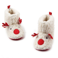 Baby Shoes Christmas shoe Kids Soft Sole Warm Boots Toddler Newborn Cute Cartoon First Walkers Infant Babe Boys Girl Booties(China)