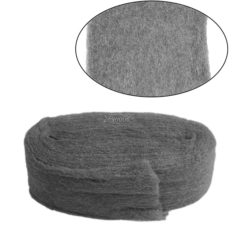 0000 Stainless Steel Wool Pads: Grade 0000 Steel Wire Wool 3.3m For Polishing Cleaning