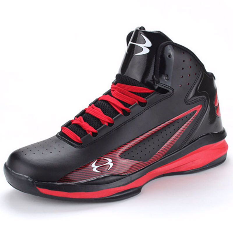 2016 Men font b Sneakers b font Black and Red Basketball Boots Indoor Basketball Shoes