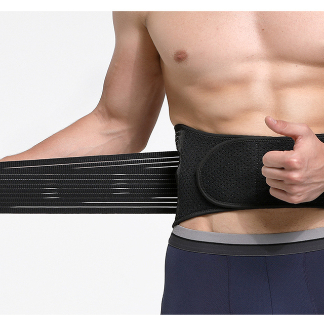 Unisex Waist Trimmer Gym Sports Fitness Lumbar Belt Brace 8 Stable Splints Support with 4 Adjustable Straps Weight Loss Shaper 3