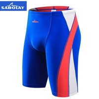SABOLAY New men's swimming trunks quick dry fifth pants swimming diving pants UV bunch Sunscreen surfing Rash Guard beach shorts
