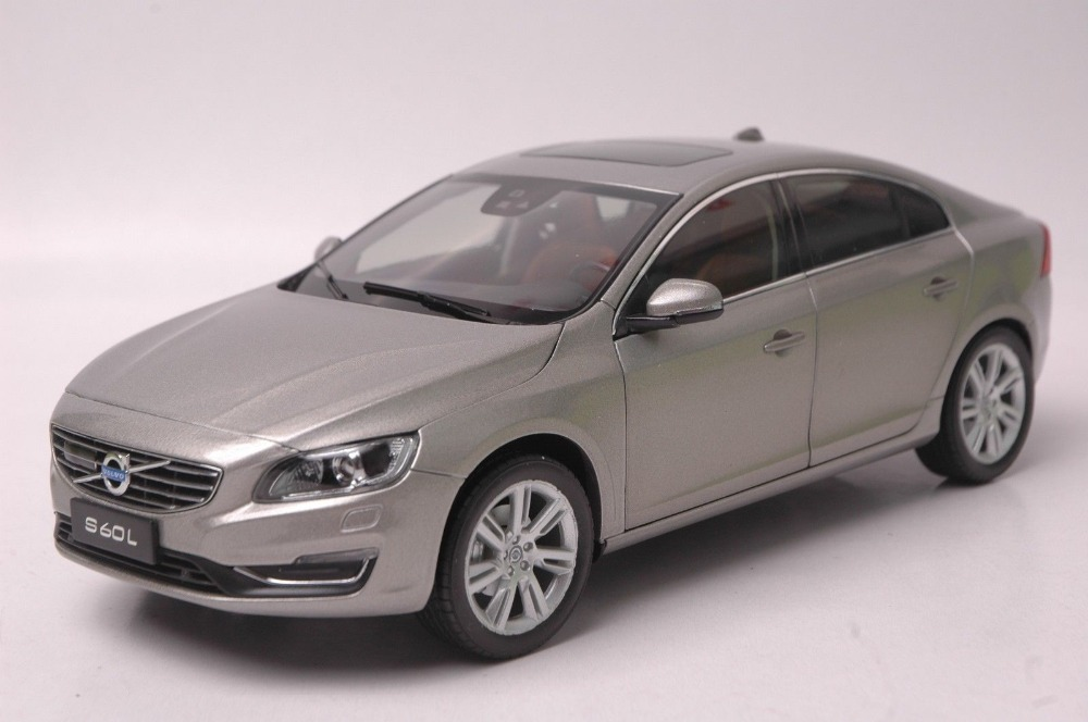 1:18 Diecast Model for Volvo S60L T5 2015 Grey Alloy Toy Car Collection S60 premiumx 1 43 yuan bao 1968 volvo 164 rich 164 alloy models prd247