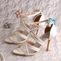 Wedopus MW795 Mulheres Sandálias Da Moda Sapatos de Salto Alto Sandálias de Tiras de Casamento 2016
